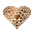 golden heart composed of small elements vector image
