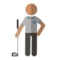 golf player gray uniform vector image