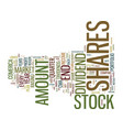 good stock market tip good return text background vector image vector image
