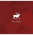 Grunge red reindeer background vector image vector image