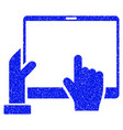hand points pda grunge icon vector image vector image