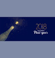 happy new year 2018 gold glitter champagne bottle vector image vector image