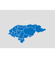 honduras map - high detailed blue map with vector image vector image