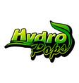 hydro pops letter emblem vector image vector image
