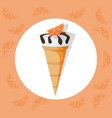icecream cone delicious icon flat style vector image vector image