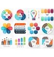 infographics set Collection of templates vector image vector image