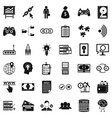 it business icons set simple style vector image vector image