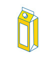 juice box icon vector image vector image