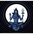 Lord Shiva Hindu god vector image
