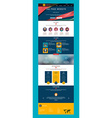 One Page Website Design Template in Flat Style vector image vector image