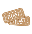 pair of brown tickets vector image vector image