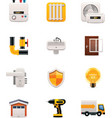 Part two of House renovation icon set vector image vector image