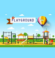 playground park vector image vector image