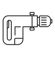 power drill icon outline style vector image