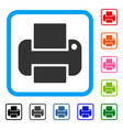 printer framed icon vector image vector image