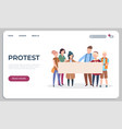 protest people landing page protesters or vector image vector image