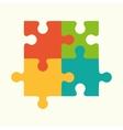 puzzles flat logo puzzle design puzzle vector image