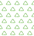 recycle seamless pattern vector image
