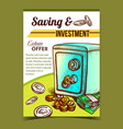 saving and investment advertising banner vector image vector image