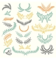 set hand-painted twigs vector image vector image