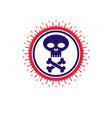 Skull and bones icon isolated on white background