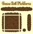 soil platform texture for games vector image vector image