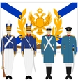 Soldiers and officers of the Russian fleet-1 vector image vector image