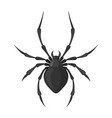 spider black icon spooky creepy insect symbol vector image vector image