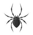 spider black icon spooky creepy insect symbol vector image