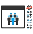 Staff Calendar Page Icon With Bonus vector image vector image