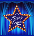 star billboard shining light sign board vector image vector image
