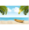 summer vacation background with tropical beach a vector image vector image