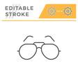 sunglasses editable stroke line icon vector image vector image