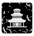 Temple icon grunge style vector image