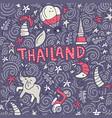 thailand symbols vector image vector image