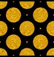 tile pattern with big golden polka dots on black vector image vector image