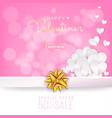 valentines day sale background greeting card vector image vector image
