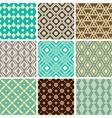vintage ornament patterns vector image vector image