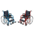 wheelchair blue and red colors medicine and vector image vector image