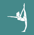 silhouette of leg stretches yoga pose vector image