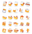 25 detailed internet icons vector image vector image
