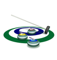 A Collection of Curling Stones on Ice Ring vector image