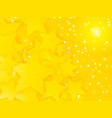 abstract space party pattern with yellow stars vector image