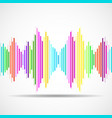 abstract technology background with as equalizer vector image vector image