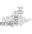 adjustable rate mortgages this home mortgage loan vector image vector image