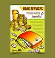 bank services financial advertising banner vector image vector image