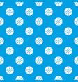 basketball ball pattern seamless blue vector image vector image