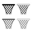basketball basket streetball net basket icon set vector image