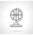 Basketball souvenir flat line icon vector image vector image