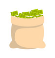 big bag money icon flat style vector image vector image